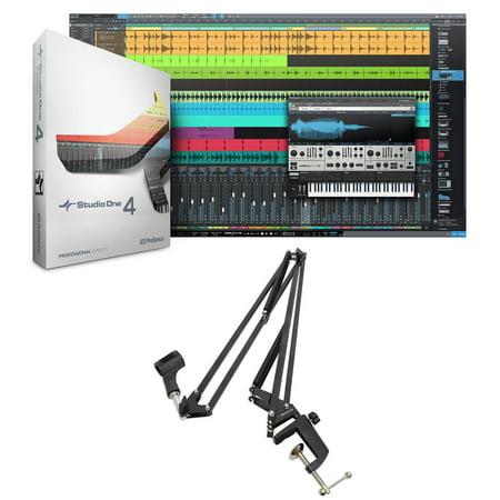 Presonus Studio One 4 Pro Upgrade Pro/Producer Version 1/2/3 to 4 + Boom Arm