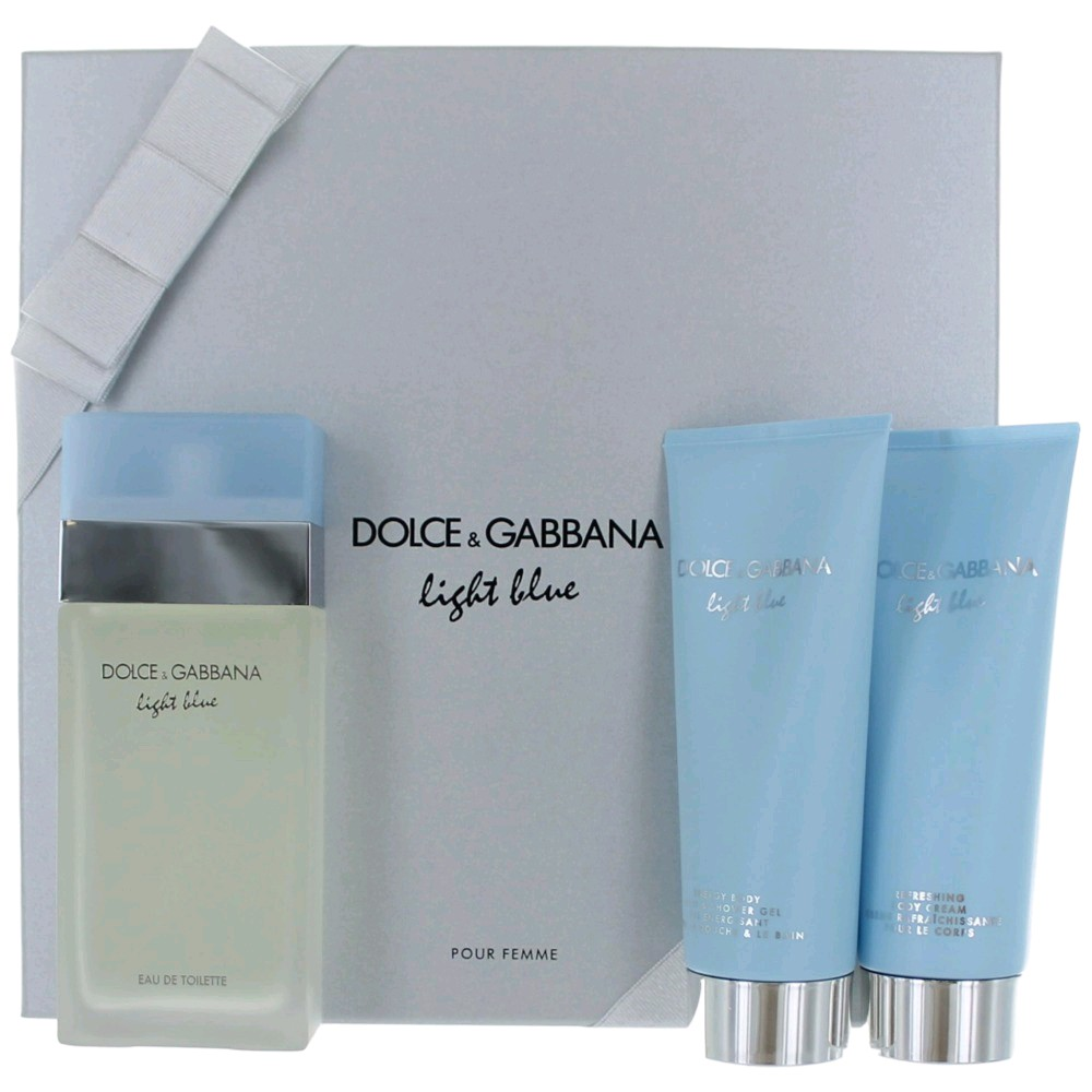 Light Blue Perfume by Dolce & Gabbana, 3 Piece Gift Set f...