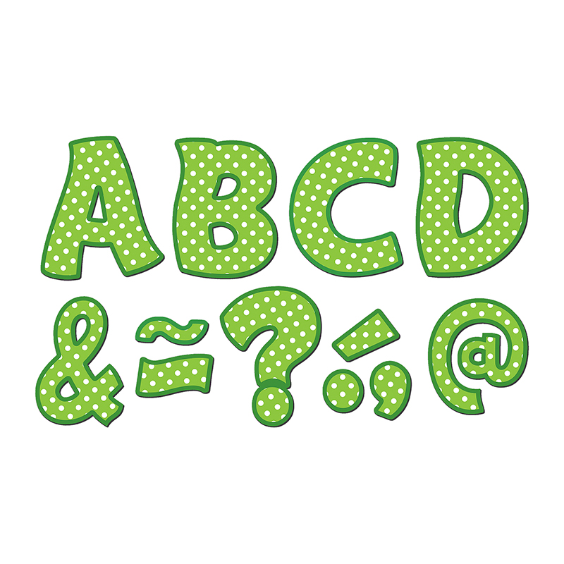 "Teacher Created Resources Lime/Dots 3"" Magnet Letters"