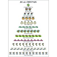 Allport Editions Los Angeles / L.A. - 12 Days of Christmas Box of 15 Christmas Cards