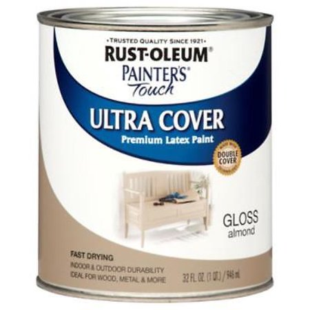 - Painter's Touch QT Almond Gloss Latex Paint Fast Dry Only One
