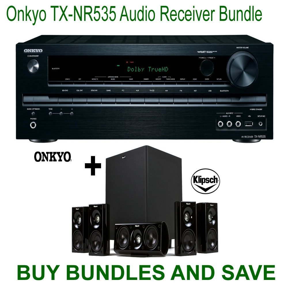 Onkyo TX-NR535 5.2-Channel Network A/V Receiver + Klipsch...