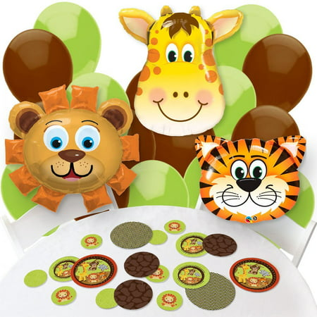 Funfari - Fun Safari Jungle - Confetti and Balloon Baby Shower or Birthday Party Decorations - Combo - Jungle Safari Balloons