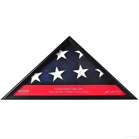 Triangle Large Black Flag Case