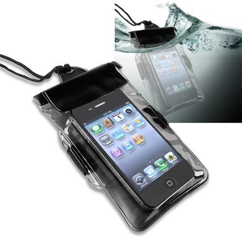 Insten Black Waterproof Bag Case for iPhone SE 5S 5C 5 4S /Samsung Galaxy S4 S3 S2 S Epic 4G Ace Mini T589 i857 i897