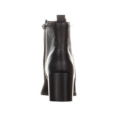 eda69c3ba30f Madden Girl Winwood Zip Up Block Heel Ankle Boots
