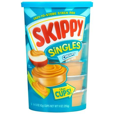 (2 Pack) Skippy Singles Creamy Peanut Butter, 1.5