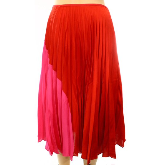 4625b2db63 Theory - Theory NEW Red Pink Women's Size Large L Colorblock Pleated ...