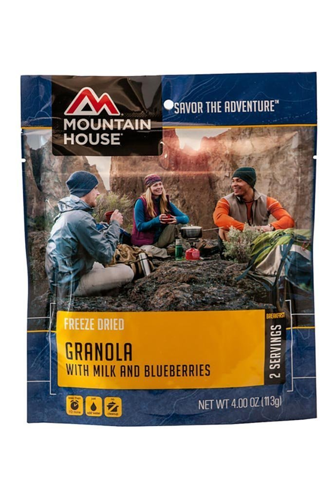 Granola with Milk & Blueberries (POUCH (2 Pack)), Packed with energizing dried fruit, fiber, and unsaturated fats the Mountain House Granola... by