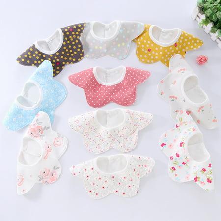 - Cute Baby Soft Cotton Bibs Princess Apron Infant Feeding Smock Bib Burp Cloths Boy Girls For 0-3M