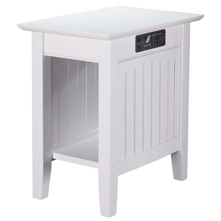 Pemberly Row Charger Chair Side Table in White - image 5 de 5