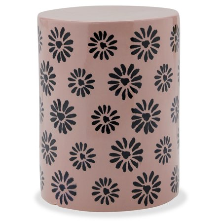 Ceramic Flower Stamped Side Table by Drew Barrymore Flower Home ()