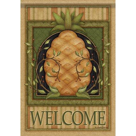 Pineapple Garden - Carson Garden Flag - Pinstripe Pineapple