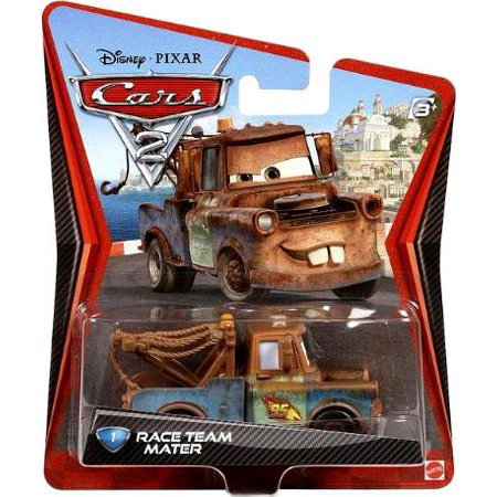 Disney Cars Cars 2 Main Series Race Team Mater 1:55 Diecast - Maier Race