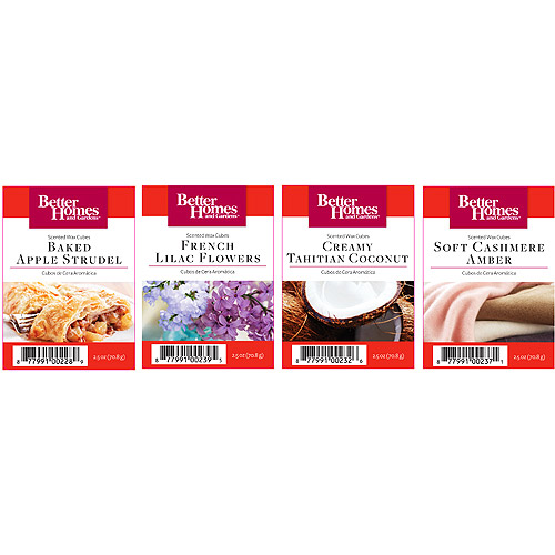 Better Homes and Gardens Variety #2 Wax Cubes, Set of 4