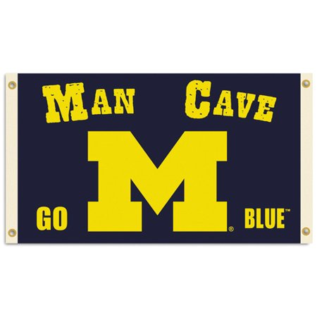 Bsi Products Inc Michigan Wolverines Man Cave Flag With 4 Grommets Flag