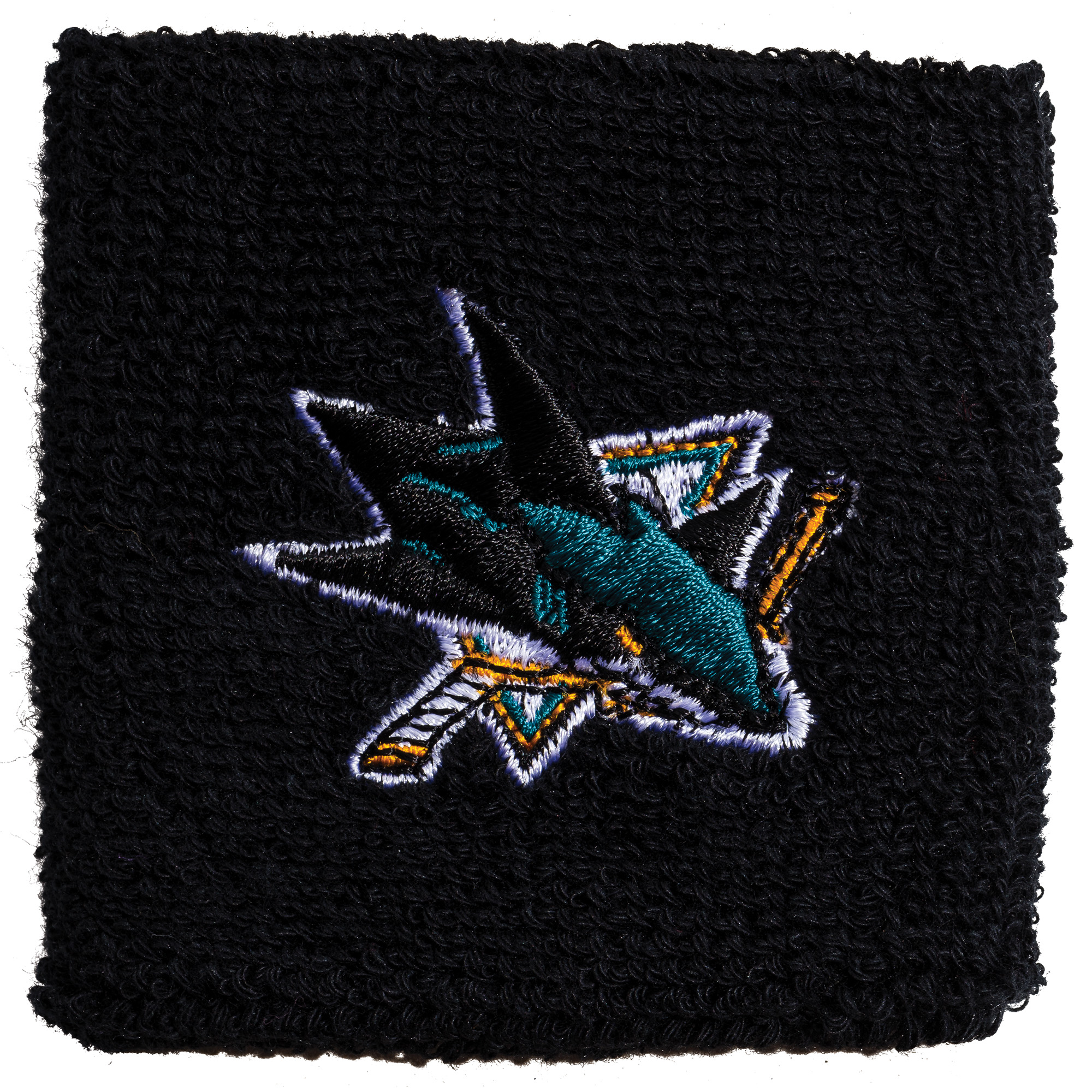 "Franklin Sports NHL San Jose Sharks 2.5"" Embroidered Wristbands"