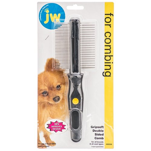 JW GripSoft Double Sided Pet Comb Double Sided Pet Comb