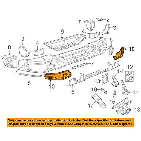 Jeep CHRYSLER OEM 15-16 Wrangler Rear Bumper-Closure Panel Left 68231987AA