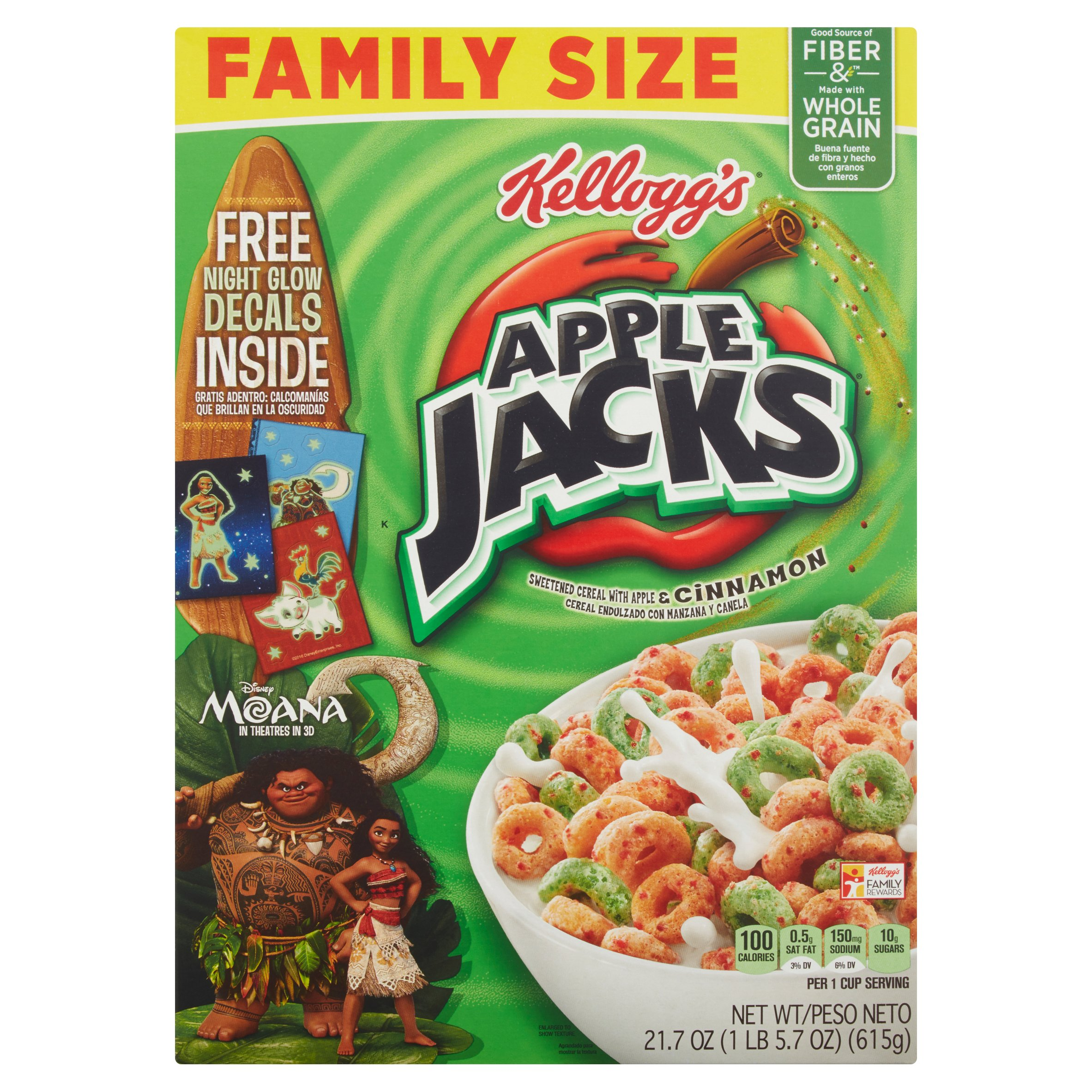Kellogg's Apple Jacks Cold Cereal, box of 21.7 ounce
