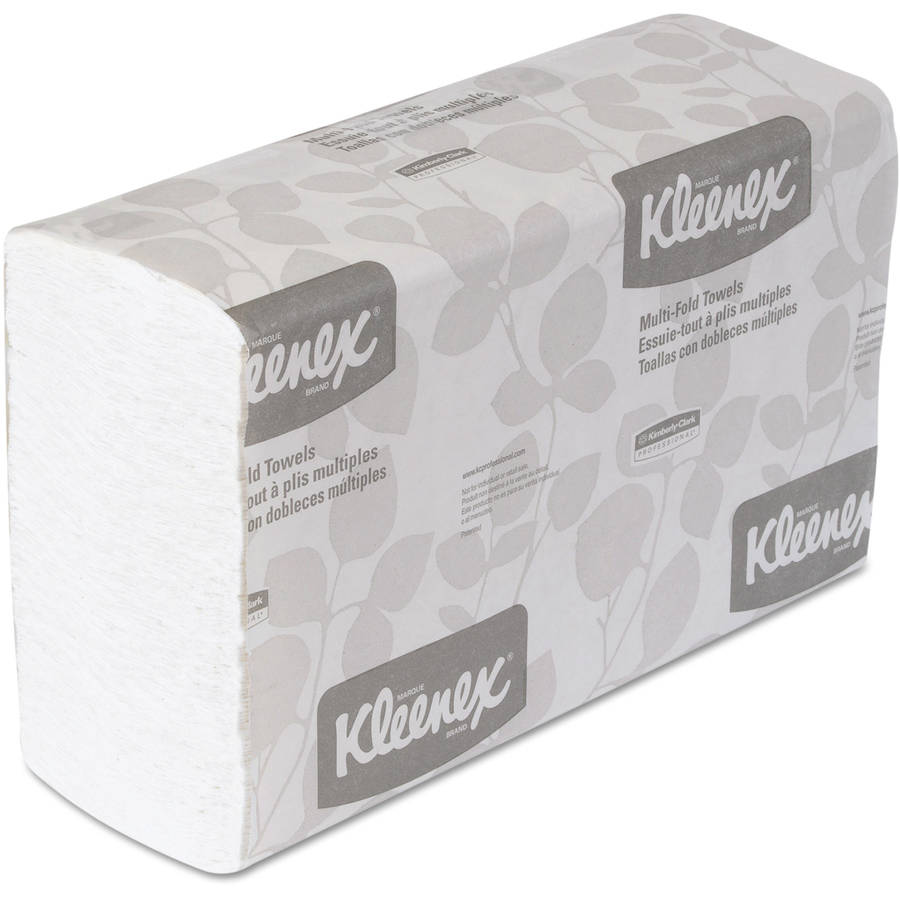 Kimberly-Clark Professional Kleenex Multifold White Paper Towels, 16 Packs of 150 sheets, 2400 Total