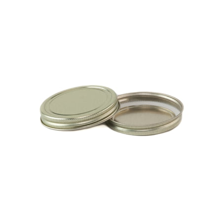 Gold CT Lid for Mason Jars - Pack of 12 - Gold Mason Jars