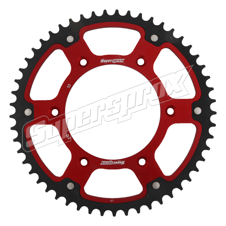 New Supersprox - Red Stealth Sprocket, 53T, Chain Size 520, Rst-210-53-Red