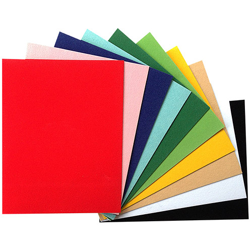 "Velvet Adhesive Sheets Sampler, 3.75"" x 5.5"", 10pk, Multicolor"