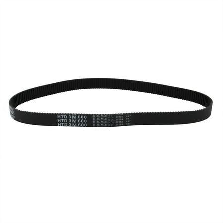 Unique Bargains HTD3M 200 Teeth Stepper Timing Belt Rubber Geared-Belt 600mm Perimeter 15mm Wide - image 2 of 2