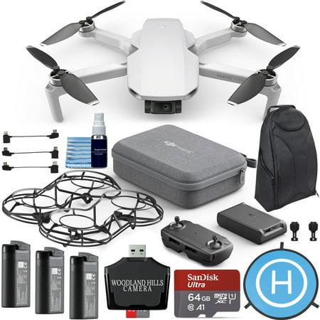 DJI Mavic Mini Fly More Combo Portable Drone Quadcopter Ultimate Pilot Bundle Kit -