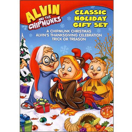 Alvin And The Chipmunks Christmas.Alvin And The Chipmunks Holiday Gift Set A Chipmunk Christmas Alvin S Thanksgiving Celebration Trick Or Treason