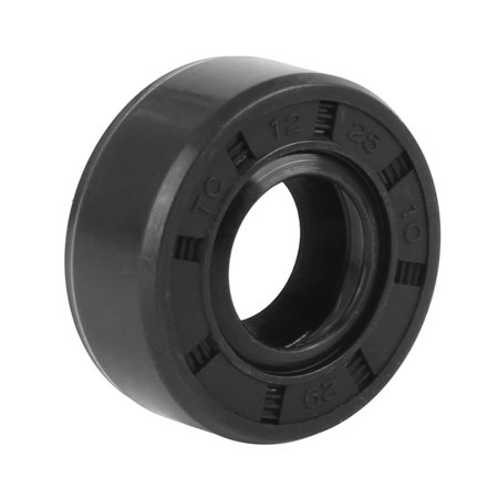 12mm x 25mm x 10mm Rubber Black Double Lip TC Oil Shaft Seal for Car Automobile Balance Shaft Oil Seal