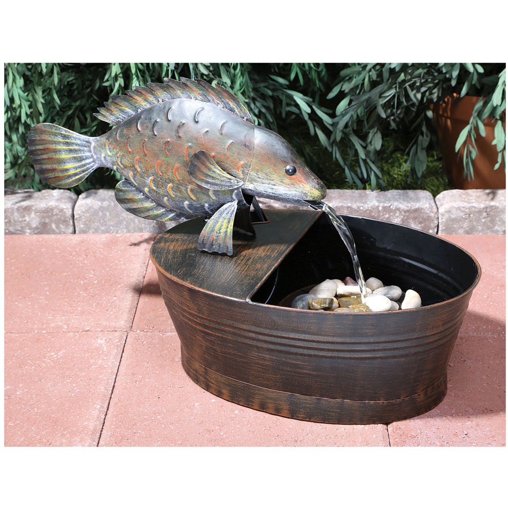 Outdoor Fish Garden Fountain With Water Pump