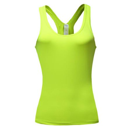 the latest b4c85 36f4e Fashion Women Loose Gym Sports Vest Training Running Tank Tops Yoga Blouse  For Sports Fitness Yoga Green - Walmart.com