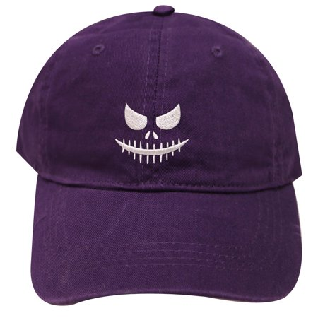 City Hunter C104 Halloween Face Baseball Caps - Dark Purple - Halloween City Winery