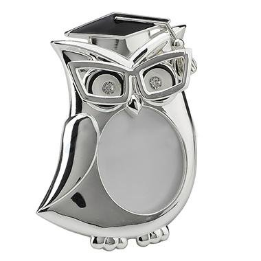 Graduation Owl Round Shape Photo Frame - Animal - Graduation Owl