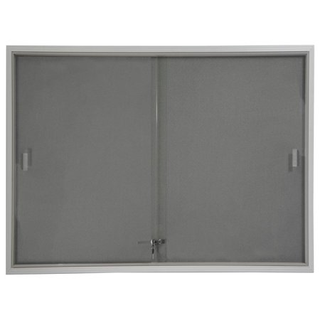48x36 Indoor Bulletin Board with Gray Fabric Backing, 4