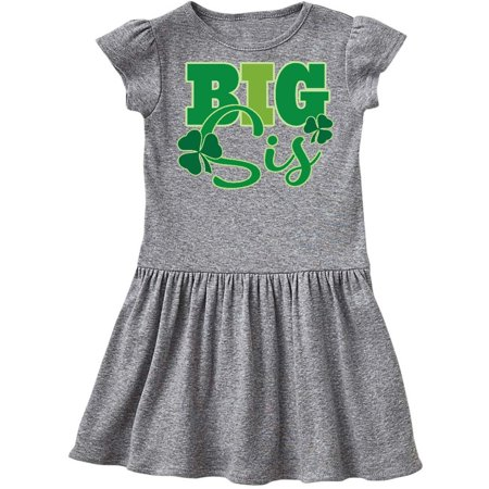 Big Sis Irish St Patricks Sister Toddler Dress