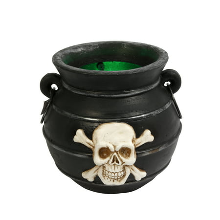 Gerson Color Changing Illuminated Smoking Magnesium Witches Cauldron - Witches Cauldron Halloween Decoration
