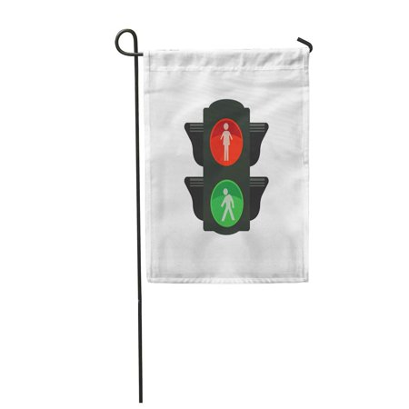 SIDONKU Green Signal Traffic Light for People Red Access Allow Garden Flag Decorative Flag House Banner 12x18 inch ()