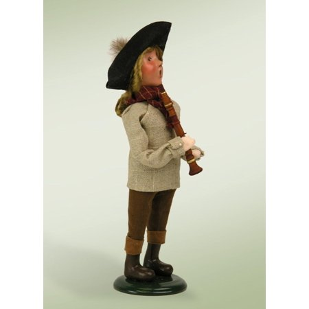 "10.5"" décoratifs de style colonial Musical Performer Boy Christmas table Figure - image 1 de 2"