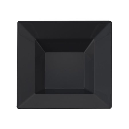 Kaya Collection - Black Plastic Square 5oz Dessert/Appetizer Bowls - Disposable or Reusable - 2 Pack (20 Bowls) Black Handle Round Bowl
