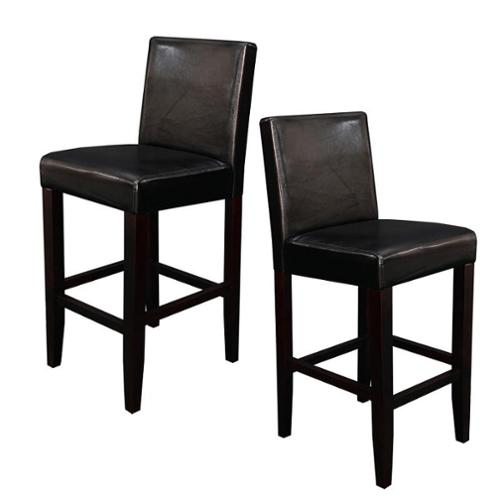 Monsoon Villa Faux Leather Black Counter Stools Set Of 2