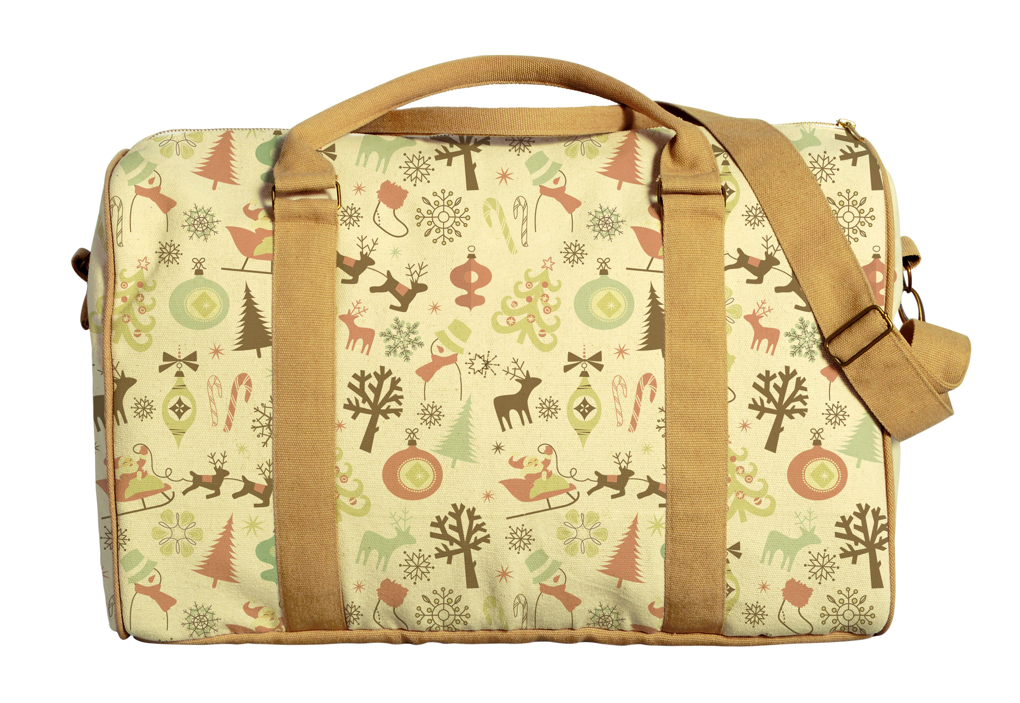 Christmas Ornament-2 Printed Oversized Canvas Duffle Luggage Travel Bag WAS_42 by Vietsbay