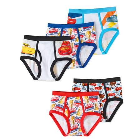 Disney Cars Boys' Underwear, 5 Pack - Boys Under Pants