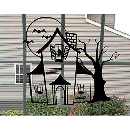 Decal ~ HAUNTED HOUSE ~ HALLOWEEN: WALL OR WINDOW DECAL, 13