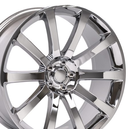 Giovanna Chrome Rims (20x9 Wheel Fits Dodge, Chrysler - 300 SRT Style Chrome Rim, Hollander 2253)