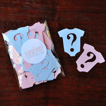 Gender Reveal Party Decorations 25CT.  Ships in 1-3 Business Days.  Onesie Confetti.  Question Marks.](Gender Reveal Party Decorations)