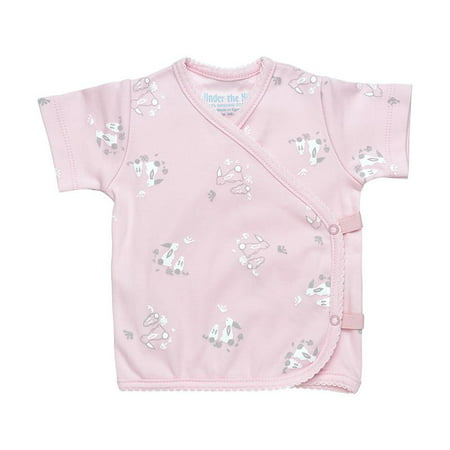 Under the Nile Organic Cotton Baby Girl Side-Snap T-Shirt Size 0-3m Pink Bunny (Nile Organic Cotton Elephant)