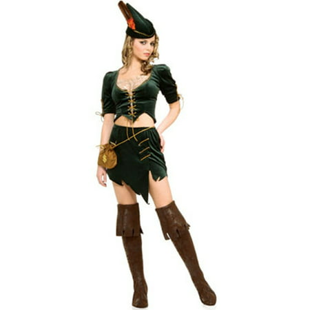 Women's Adult Princess of Thieves  Female Robin Hood Costume](Green Robin Hood Costume)